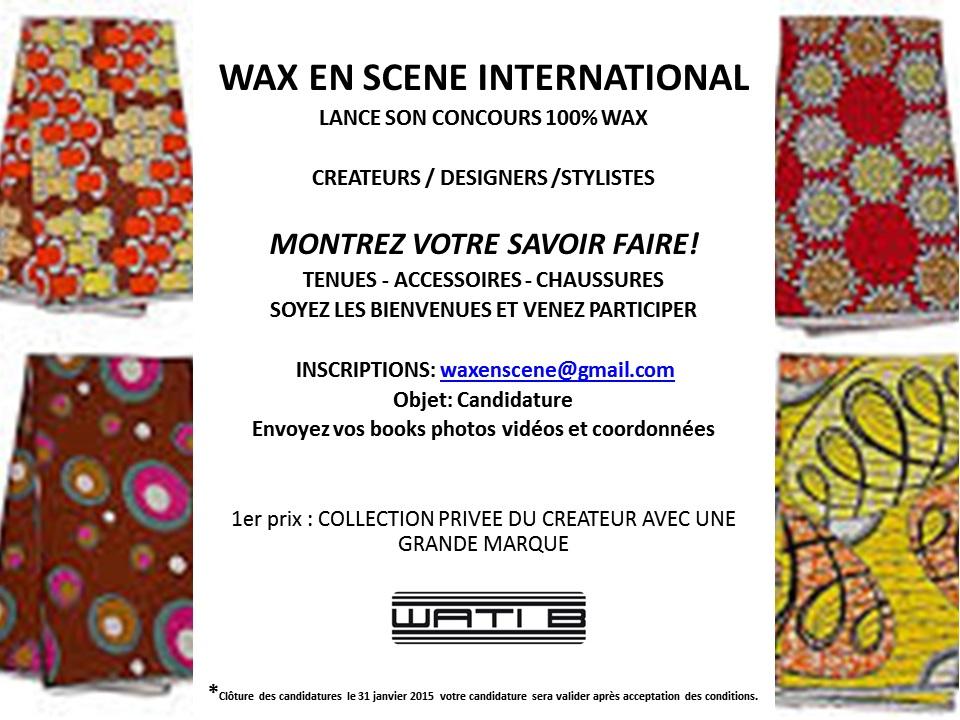Concours Wax en Scène Internationale