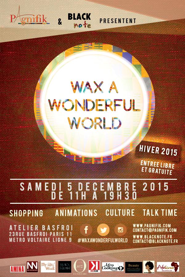 Samedi 5 décembre 2015 de 11H00 à 19H30 à Paris
