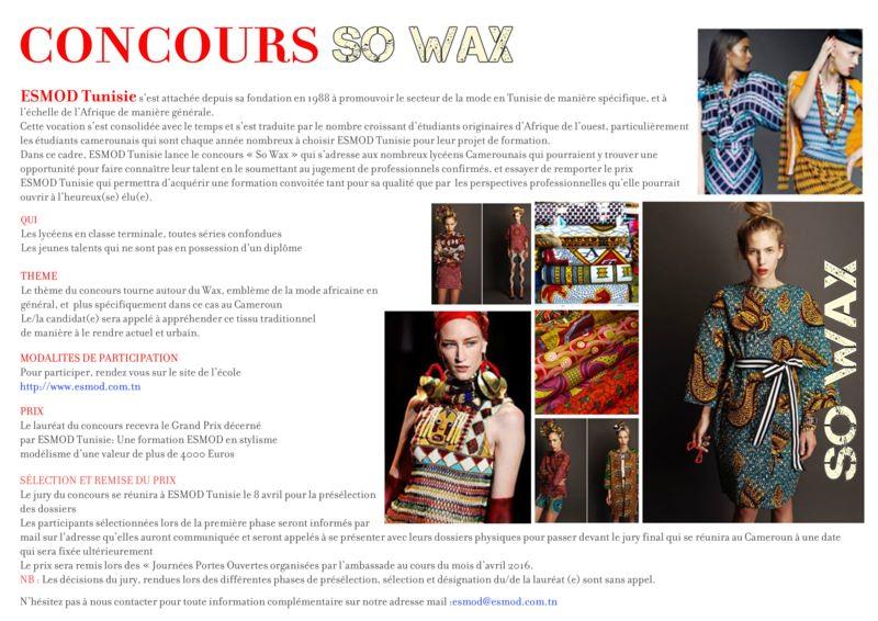 Concours So Wax - Esmod Tunisie
